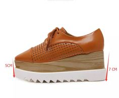 5b3e243a410 HAIYUELI Women Platform Shoes Oxfords Brogue PU Leather Flats Lace Up Shoes  Creepers Vintage Hollow Light Soles Casual Shoes-in Women s Flats from  Shoes on ...