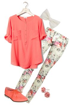 cute girly outfit. No to the shoes though.