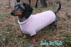 (6) Name: 'Knitting : Seamless Mini Dachshund Dog Sweater