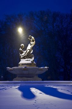 Peaceful night at the Mary Schenley Fountain in Pittsburgh by Melissa @ PPC, via Flickr