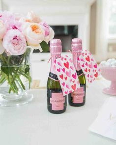 Shower your friends with mini champagne bottles at your spring bridal shower. Get even more inspo for your celebration from these ideas.
