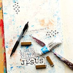 Mixed Media Art Worship Journal | I Need Thee Every Hour Hymn