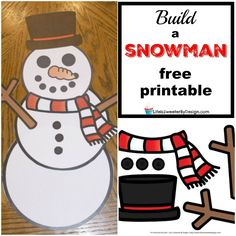 Get Build a Snowman free printables to help keep your kids busy on a cold day. There are lots of fun snowy day activities to check out here.
