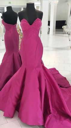 Sweetheart Sheath Slit Prom Dress,Sheer Evening Gown With