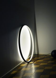 -A circle of light by Rasmus Malbert - Saturn Neon Lighting, Interior Lighting, Home Lighting, Lighting Design, Deco Luminaire, Luminaire Design, Lamp Design, Light Art, Lamp Light