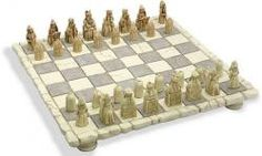 Celtic chess set and board