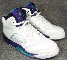 5cb32c474957 Air Jordan 5 Retro White New Emerald-Grape Ice-Black. Share more