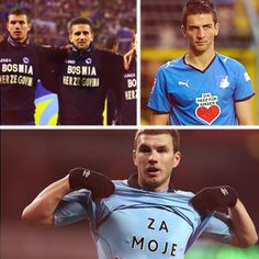 The Bosnia Herzegovina national football team qualified for the first time this World Cup. Strikers to watch: Vedad Ibišević and Edin Dzeko.