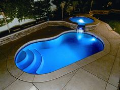 The idea is to change the swimming pool lights underwater during the off season when there is no water in the pool. Since pool lights add to the atmosphere Small Backyard Pools, Backyard Pool Designs, Small Pools, Modern Backyard, Swimming Pools Backyard, Swimming Pool Designs, Backyard Ideas, Small Fiberglass Inground Pools, Inground Pool Lights
