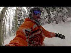 snowboard powder day