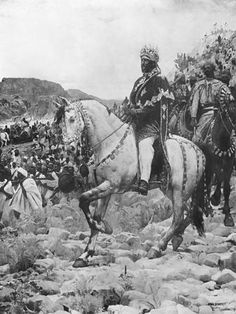 Negus of Ethiopia, Menelik II at The Battle of Adowa, 1897 by Paul Buffet Framed Photographic Print Magnolia Box Size: Extra Large History Of Ethiopia, African Royalty, Canvas Art, Canvas Prints, Black History Facts, Perfect World, Leonid Afremov Paintings, Interesting History, African History