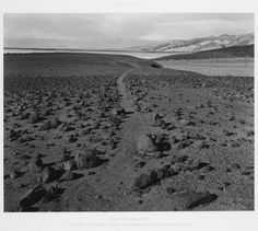 Lake Manly, Death Valley, Ancient Footpath along the Shore of the Departed Lake Mark Ruwedel 1995