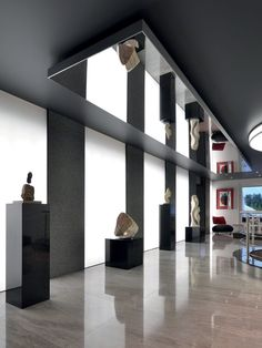 Find out all of the information about the BARRISOL product: ceiling-mounted mirror / contemporary / commercial MIRROR®. Contact a supplier or the parent company directly to get a quote or to find out a price or your closest point of sale. Mirror Ceiling, Ceiling Light Fixtures, Ceiling Lights, Ceiling Fan, Barrisol Ceiling, Spiegel Design, Plafond Design, Lighting Showroom, Mirrors