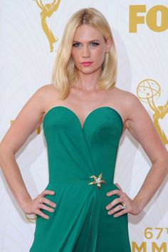 This Is the Inspiration Behind January Jones' Emmys Beauty Look