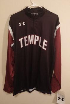 Mens Under Armour NCAA #21 Temple Owls Jacket Size XL  #UnderArmour #TempleOwls