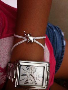 Layered Elephant Bracelet by NVboutique on Etsy, $12.00