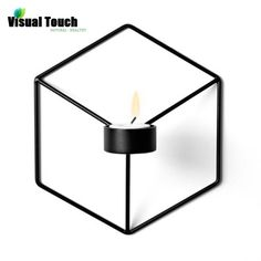 Visual Touch Nordic Style 3D Geometric Candlestick Metal Wall Candle Holder Sconce Matching Small Tealight Home Ornaments-in Candle Holders from Home & Garden on Aliexpress.com | Alibaba Group