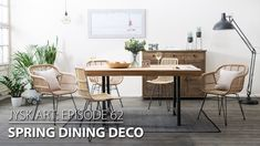 This deco episode will show you how to give a fresh look to your dining room! Try this summers' hit, rattan chairs (RISTO and FRIAAN), in a set with a massive teakwood table TAFTAAN. Dining Area, Kitchen Dining, Dining Table, Dining Room Inspiration, Furniture Inspiration, Rattan Chairs, Rattan Furniture, Storage Boxes, Indoor