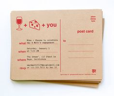 12 wine and cheese party invites // free personalization and custom colors. $13.50, via Etsy.
