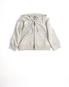 Strass, gray sweat shirt,zip front hoodie
