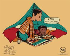 Community's Troy And Abed As Calvin And Hobbes // I need to have these books. Who's making them?