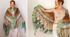 Kazakhstan-born, Melbourne-based designer Roza Khamitova has come up with a collection of scarves that will instantly give you wings. Khamitova's Hedwig Costume, Bird Costume, Textiles, Cowgirl Style, Historical Costume, Pretty Cool, Designer, Kimono Top, Wings