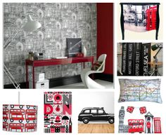 London Baby, I like all of these, especially the lamp shade. London Bedroom Themes, Paris Bedroom, Bedroom Decor, Bedroom Inspo, Bedroom Ideas, British Themed Rooms, Room London, London Decor, British Decor