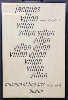 For Auction: Jacques Villon Museum of Fine Arts Boston Gallery (#0215) on Aug 25, 2020 | Ashcroft and Moore in PA Directory Signs, David Stone, Broadway Posters, New York Theater, Poster Design Inspiration, Exhibition Poster, Advertising Poster, Museum Of Fine Arts, Abstract Print