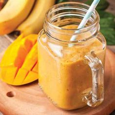 This smoothie is a cinch! Just toss everything into the blender, and you're seconds away from a refreshing beverage