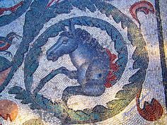mosaico risalente all'incirca al 300 d. C. in una villa tardo romana di Piazza Armerina in Sicilia (Enna)