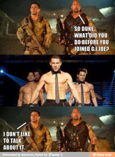 Channing Tatum! The SEXY stripper who joined the army
