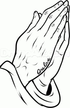 how to draw praying hands tattoo step 10