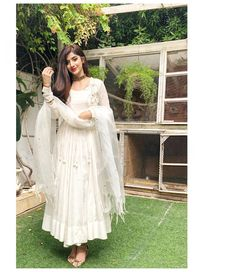And the promotions begin Ethnic Outfits, Indian Outfits, Indian Clothes, Desi Clothes, Ethnic Dress, Dress Indian Style, Indian Dresses, Designer Anarkali Dresses, Designer Dresses