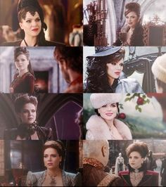 Fabulous  & Fierce costumes, hair  & makeup of Regina on Once Upon a Time