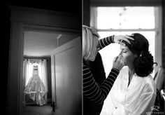 Bride | Wedding Dress | Black & White | Wedding Day | Love | Bride & Groom | Franklin Plaza | Fall Wedding © Matt Ramos Photography