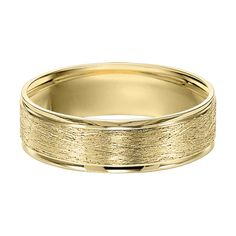 Men's 6.0mm Brushed Wedding Band in 10K Gold - possibility for Kyle