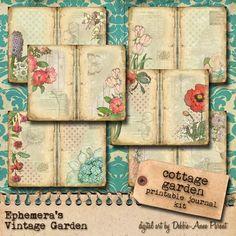 Cottage Garden - Printable Journal Kit
