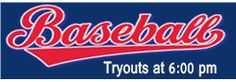 Baseball Tryouts Banner Template