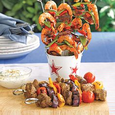 Healthy and cheap... Lamb Kebobs with Yogurt Sauce... 315 calories a serving, serves 8 for 95 cents a serving.