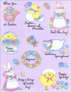 Hallmark Easter stickers