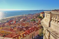 10 Scenic Viewpoints in Lisbon, Portugal -  via JetSetting Fools 19.12.2014 | Photo: National Pantheon | The hills of Lisbon are giving us a workout, but our reward (besides burning up all the calories from the wine and custard tarts) is the outstanding views over the brightly colored city. Miradouros – lookout points – with shady terraces, sometimes accompanied by a small café, can be found all over the city and both tourists and locals frequent the spots.