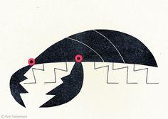 'Stag Beetle' (2012) by Japanese illustrator Ryo Takemasa (b 1981). Obviously, I am enchanted! via Flickr
