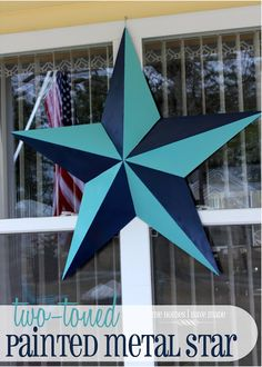 give a traditional metal star a two-toned paint treatment!