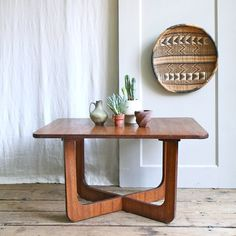 Vintage Mid Century Wood Coffee - does this come in a cafe/dining table?  It would be perfect for my living room.