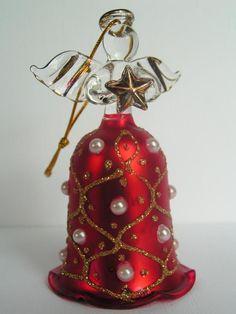 Aniołek anioł czerwony szklany Mdina Glass -8%
