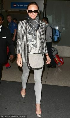 Stella Mccartney - Click for More... ~ LOVE the blazer & scarf! Great classic understated style!