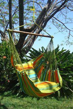 Hanging Hammock Chair - Slo-N-Ez from Flora Decor                                                                                                                                                                                 Más