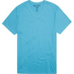 Billabong Unisex Essential Tailored V-Neck Tee ($11) ❤ liked on Polyvore featuring tops, t-shirts, t-shirt/package, washed blue, v neck tee, cotton t shirts, billabong t shirts, cotton v-neck tee and long v neck t shirts