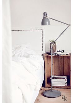 Bedside lamp and table