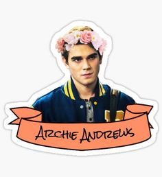 """archie flower crown sticker"" Stickers by lunalovebad Printable Stickers, Cute Stickers, Archie Andrews Aesthetic, Archie Andrews Riverdale, Overlays Tumblr, Easy At Home Workouts, Tumblr Stickers, Aesthetic Stickers, Laptop Stickers"